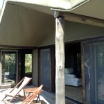 Tente familiale avec terrasse
