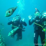 Sarah and Caroline on their PADI Open Water Course