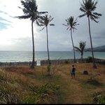 the private beach down the villa