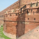 Agra Fort walls