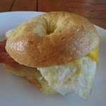 Bagel Breakfast with Egg & Bacon
