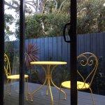 Patio in garden view room
