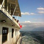 Détail d'un pont d'un bateau de la CGN