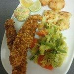 Breaded fish
