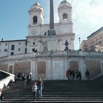 The spanish steps are located a very short walk from the hotel.