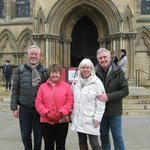 Outside the Minster, 10 minutes walk away