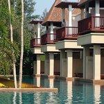 Les chambres sur piscine