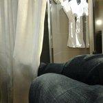 Your bathroom behind a curtain