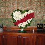 Valentine Decoration Front Desk