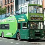 The city tour bus at Stop 23 - O'Connell St
