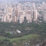 View down from Diamond Head - you got to walk it!