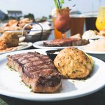 We have a number of combos of steaks and seafood