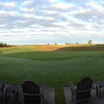 View from the clubhouse of #18 Bandon Dunes