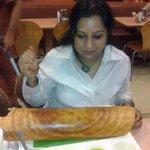 having plain dosa at Sarvana Bhawan!