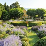 The Grand blue garden at Le Pavillon de Galon