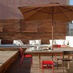 Private wooden deck terrace at Tengujo