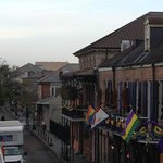 View from Balcony facing Bourbon St.