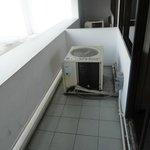 AC motor on the balcony