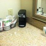 Bathroom coffee/toiletries