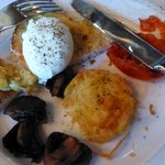 Perfect poached egg and potato rosti