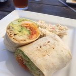 Lunch special Arbol Fish Wrap
