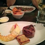 Lomo fillet steak with lobster