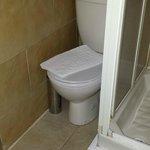 Portakabin of a bathroom