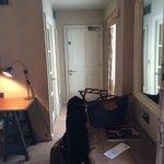 Bedroom with connecting door to next room
