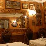 mirror at the restaurant