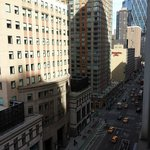 View from the room - looking north onto 8th Avenue