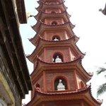 6-sided brick tower at Tran Quoc-pagoda
