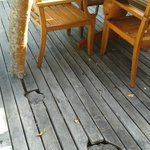 holes on decking