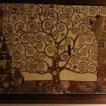 Gustav Klimt - Tree of Life painting in room