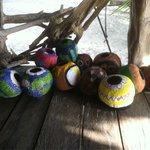 Coconut bocce ball--fun!