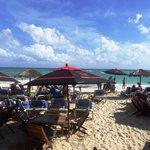 Caribbean  Sea and skies providing the fabulous backdrop