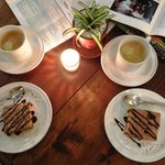 Cafe y pastel...mmm