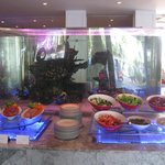 The Palms restuarant - fish tank surrounded by breakfast!
