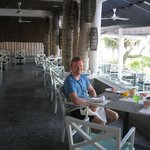 The Palms restuarant - outside area right next to pool