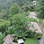 looking down at some of the villas