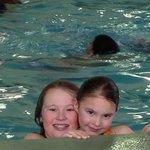 Fun in the indoor heated pool!
