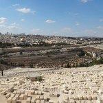 Вид на старый город Иерусалим с Елеонской горы