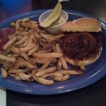 """Plenty of warm, oily """"hand cut fries"""" and a pulled pork sandwich"""