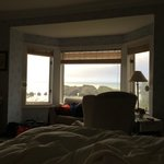 Excuse our mess, but this is a view from the bed in the Clifton room as we opened our eyes.