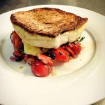 Pan Fried Red Snapper with mash and tomato and basil salsa.
