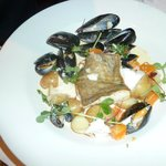 cod and mussels.