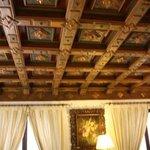 Prachtige plafonds in ontvangsthal en ontbijtzaal