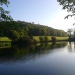 Fishing lake adjacent to 18th fairway