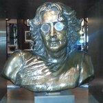 Lennon bust in reception