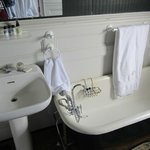 Love the antique tub & sink