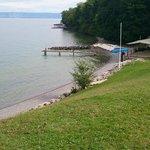 la plage du lac près du camping